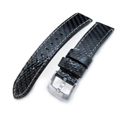 20mm, 21mm MiLTAT Genuine Carbon Fiber, Beige St. XL