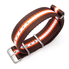 20mm MiLTAT G10 Nylon - Brown, Orange & White