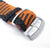 Perlon strap, Black & Orange, Sandblasted