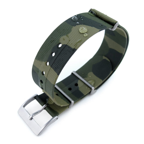 Camo Green Rubber NATO Waterproof, BL