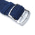 Perlon Strap, Dark Blue, Polished