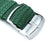 Perlon Strap, Green, Polished