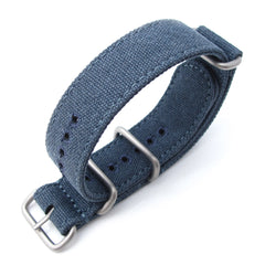 20, 22mm MiLTAT G10 Washed Canvas - Navy Blue