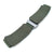 MiLTAT Military Green Nylon Hook and Loop Fastener Watch Strap, Brushed