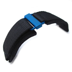 MiLTAT Nylon Hook and Loop Fastener Watch Strap, IP Blue