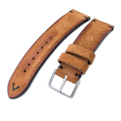 MiLTAT Saddle Brown Nubuck, Black St. Sandblasted