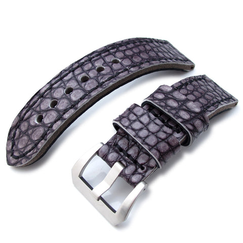 22mm MiLTAT Dark Grey Alligator, Black St. XL
