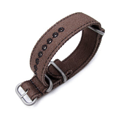 20, 22mm MiLTAT G10 Washed Canvas - Dark Brown