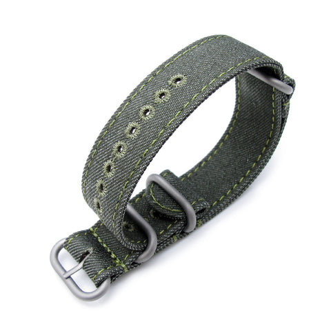 20, 22mm MiLTAT G10 Washed Canvas - Military Green