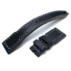 22mm MiLTAT Black Pull Up Aniline, for IWC Big Pilot