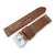 22mm MiLTAT Zizz Braided Calf, Brown, Grey St.