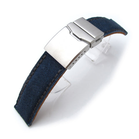 MiLTAT Navy Washed Canvas, Chamfer Clasp