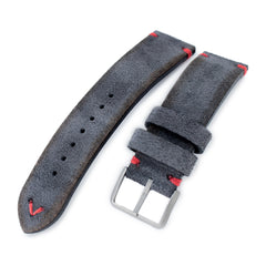 MiLTAT Dark Grey Nubuck, Red St. Sandblasted