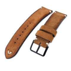 MiLTAT Saddle Brown Nubuck, Beige St. PVD