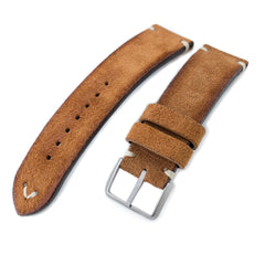 MiLTAT Saddle Brown Nubuck, Beige St. Sandblasted