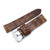 24mm MiLTAT Zizz Cracked Croco Middle Brown, Brown St.
