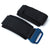 MiLTAT Black Nylon Hook and Loop Fastener Watch Strap for BR-01, IP Blue
