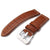 Matte Brown Croco Grain Strap, MiLTAT (BE)