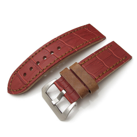 26mm MiLTAT Antipode Matte Red CrocoCalf