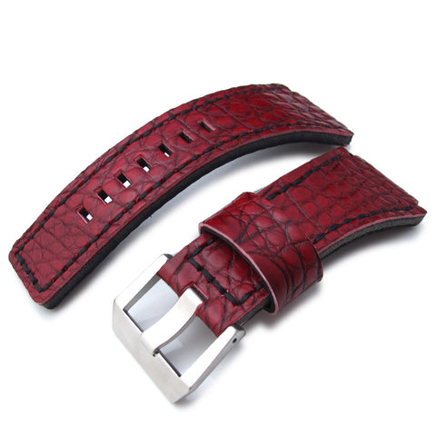 MiLTAT Alligator Bell & Ross BR01, Burgundy