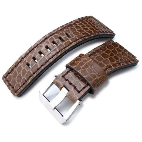 MiLTAT Alligator for Bell & Ross BR01, Brown