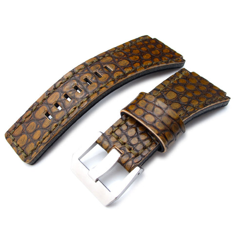 MiLTAT Alligator for Bell & Ross BR01, Rusty Rock