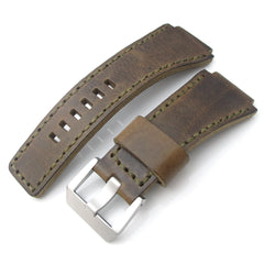 MiLTAT Hand Stitch Vintage Brown Calf for Bell & Ross BR01