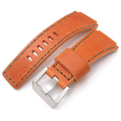 MiLTAT Hand Stitch Orange Calf for Bell & Ross BR01