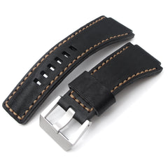 MiLTAT Hand Stitch Matte Black Calf for Bell & Ross BR01