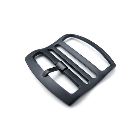 Ladder Lock Slider tang buckle, PVD Brushed Black