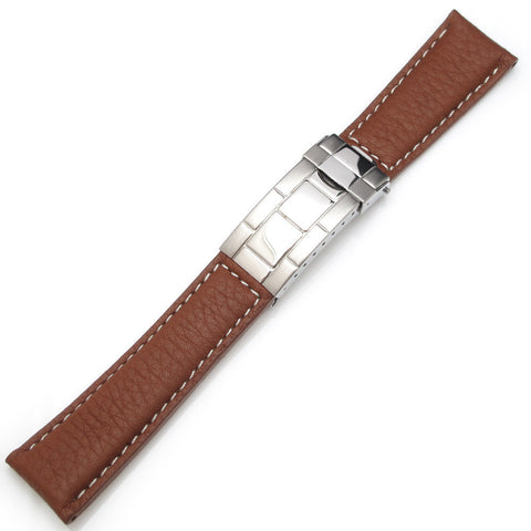 20mm Buffalo Grain Strap Deployant, XS