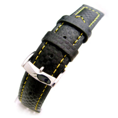 20mm Black Carbon Fiber Watch Strap