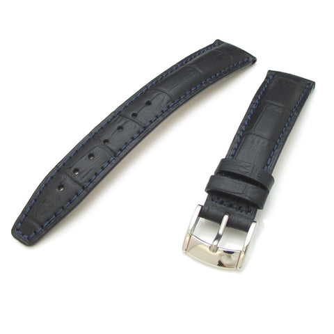 18mm CrocoCalf with Polished Buckle