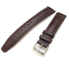 18mm Maroon CrocoCalf, Polished Buckle