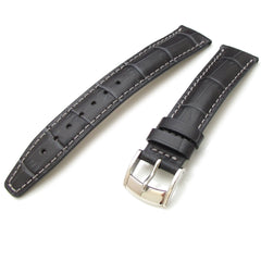 18mm Grey CrocoCalf, Polished Buckle
