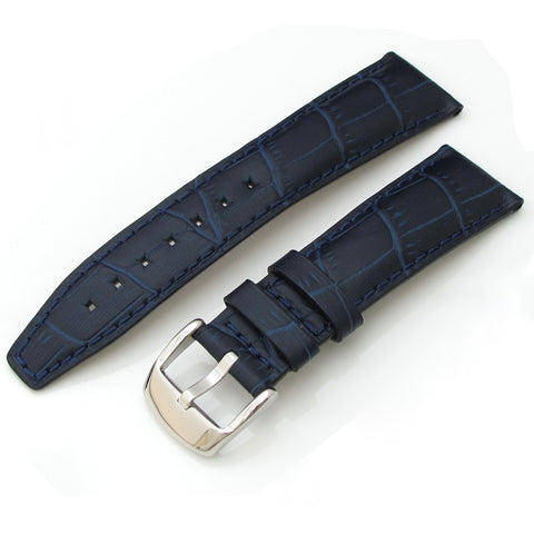 Blue CrocoCalf Leather with Polished Buckle