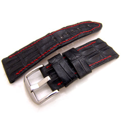 27mm Matte Back Horned Crocodile Watchstrap