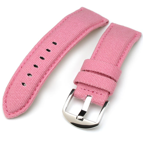 24mm Pink Color Canvas with 22mm Buckle