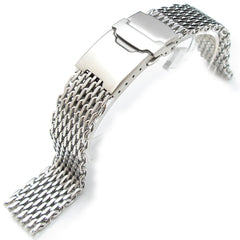 "18mm  316L ""SHARK"" Mesh, Polished"