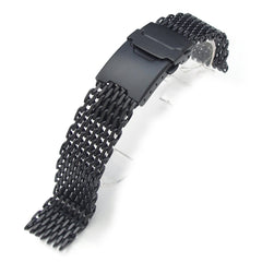 "18mm  316L ""SHARK"" Mesh, PVD Black"