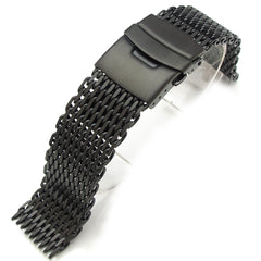 "22mm  316L ""SHARK"" Mesh, PVD Black"