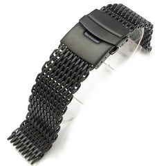 "20mm  316L ""SHARK"" Mesh, PVD Black"