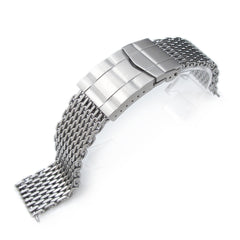 "19-20mm Ploprof 316 ""SHARK"" Mesh, Submariner Diver Clasp, B"