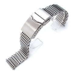 "17-18mm  316 ""SHARK"" Mesh, Chamfer Diver Clasp, P"