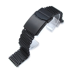 "18mm  316 ""SHARK"" Mesh, Chamfer Diver Clasp, PVD"