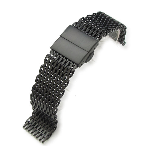 "20mm  316 Reform ""SHARK"" Mesh, PVD Black"