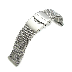 22mm 316L Thick Mesh Band, Diver Clasp