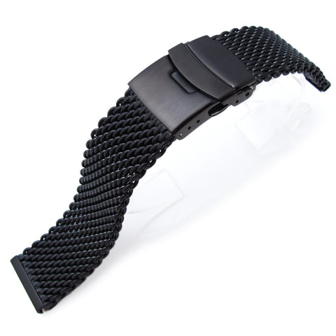 20mm Milanese Thick 316L Mesh Diver Clasp, PVD