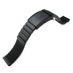 20mm Solid Link Heavy Mesh Band OME Seatbelt, PVD