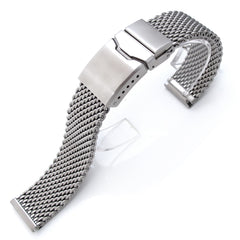 20mm Milanese Thick Mesh Band, Chamfer Diver Clasp